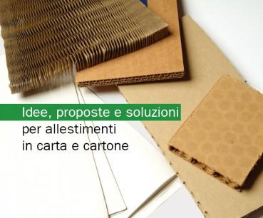 Idee, proposte e soluzioni per allestimenti in carta e cartone