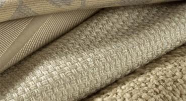 Tessuto in cotone, lana, lino e seta