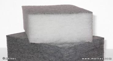 Materiale in fibre di HP-PET riciclate