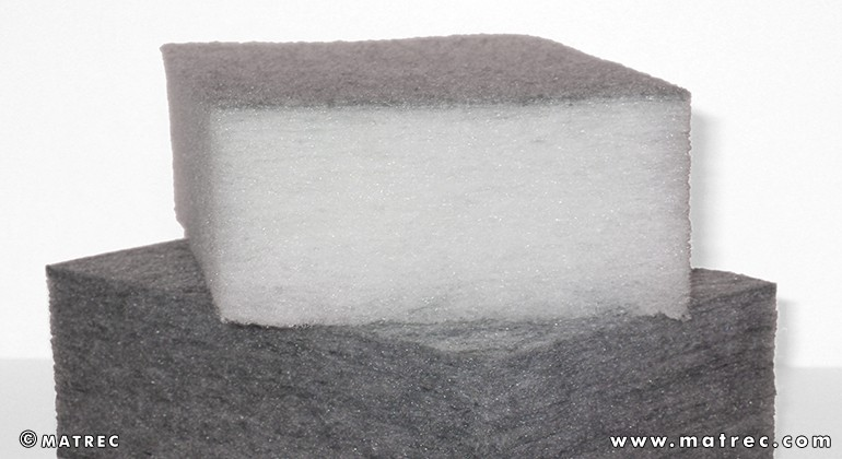 Recycled HP-PET fibres material