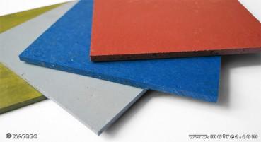 Materiale in sansa esausta, PP e/o PE riciclati