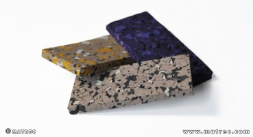 Recycled rubber material