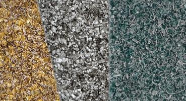 Pannello con scaglie di alluminio riciclato