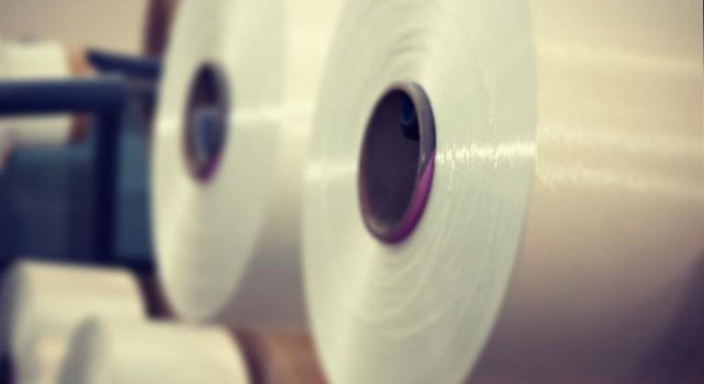 PET and fabrics fibres material