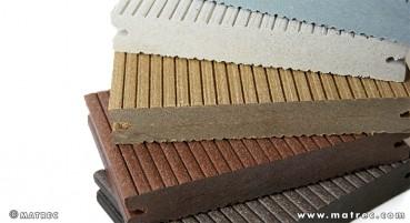 Materiale in legno e polietilene riciclati