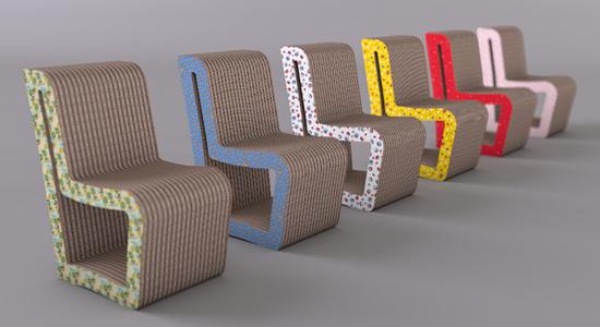 Name: Giulia Material: cardboard Company: Naj-Oleari Country: Italy