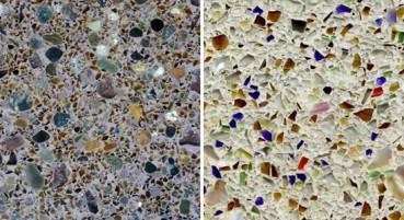 Materiale in vetro e specchi riciclati
