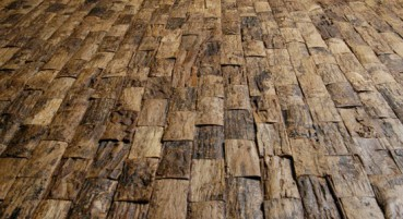 Recycled wood material