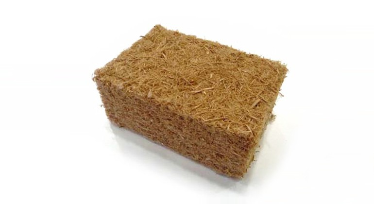 Insulation material made of posidonia and wool