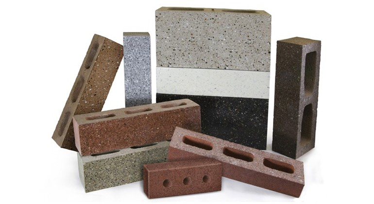 Material made of recycled glass and concrete