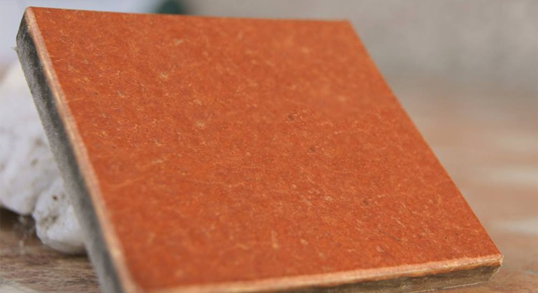 Material made of hemp and recycled paper and fabrics