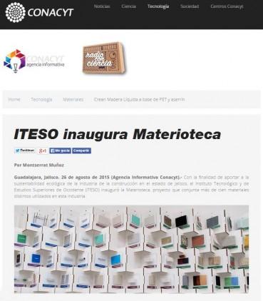 ITESO inaugura Materioteca in collaborazione con MATREC