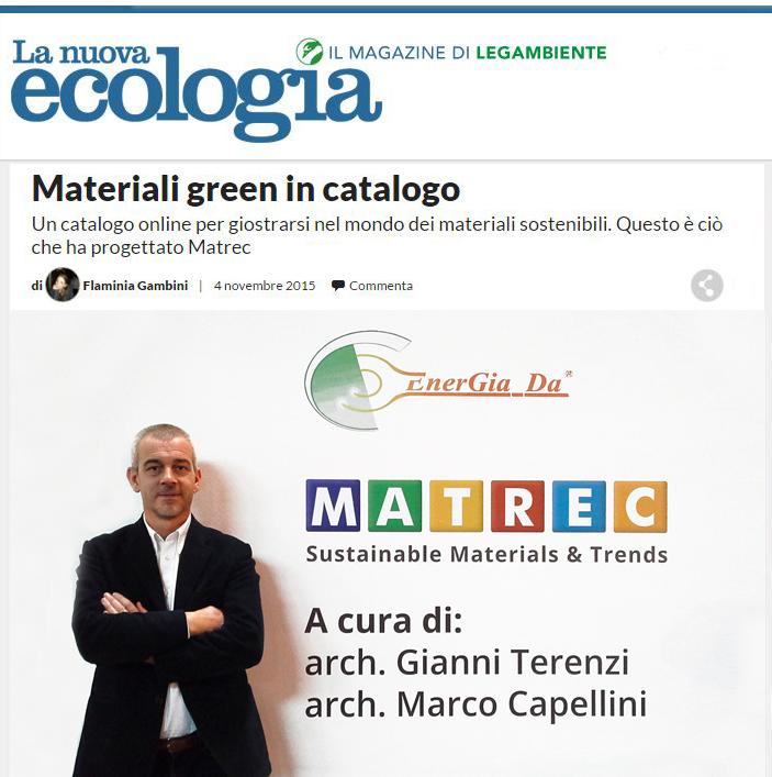 Materiali green in catalogo