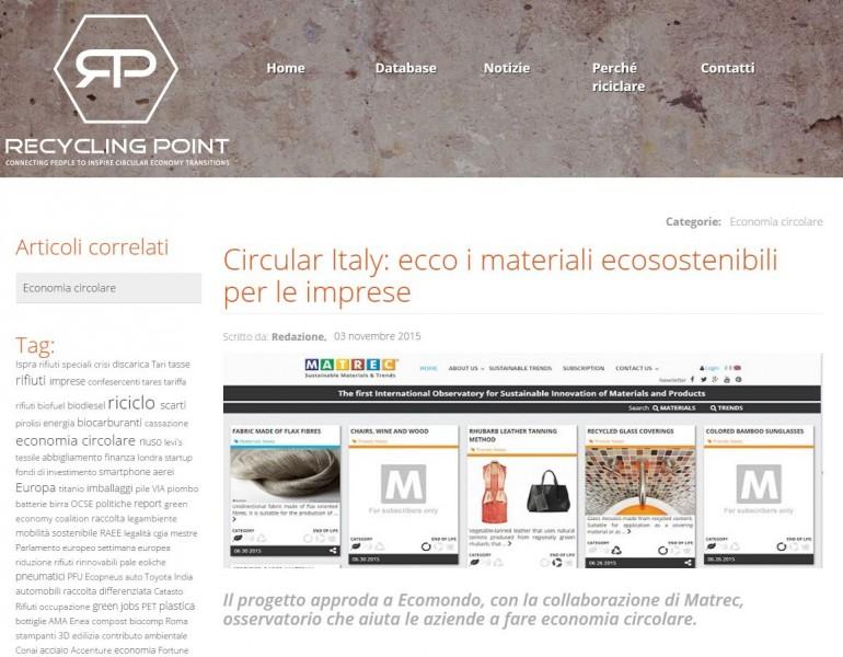 CircularItaly: ecco i materiali ecosostenibili per le imprese