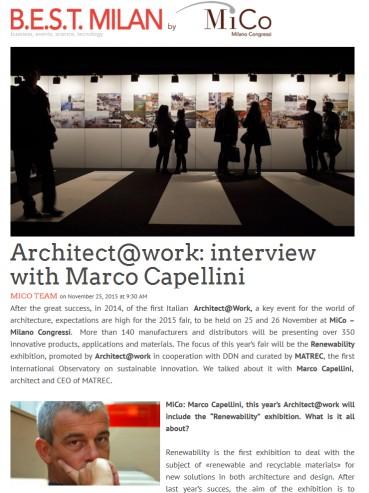 Architect@Work: intervista a Marco Capellini