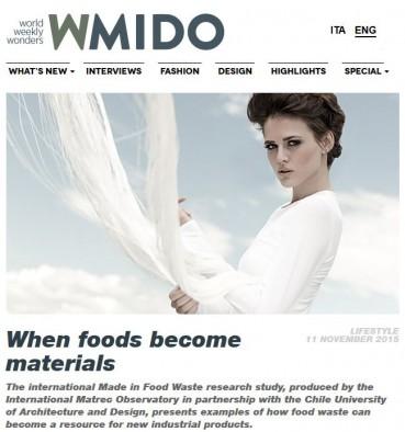Quando gli alimenti diventano materiali