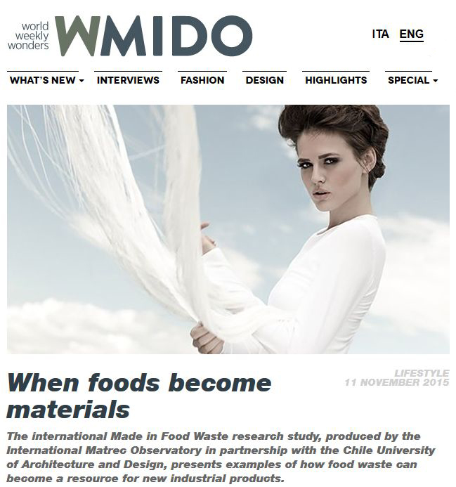 When foods become materials