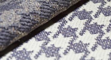 Tessuto in lana naturale e juta riciclata