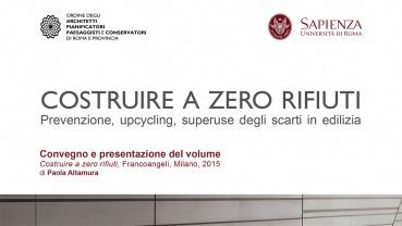 Matrec al convegno: COSTRUIRE A ZERO RIFIUTI, Roma 30 giugno 2016