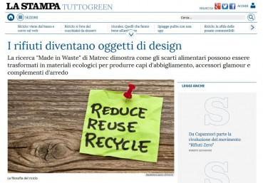 I rifiuti diventano oggetti di design