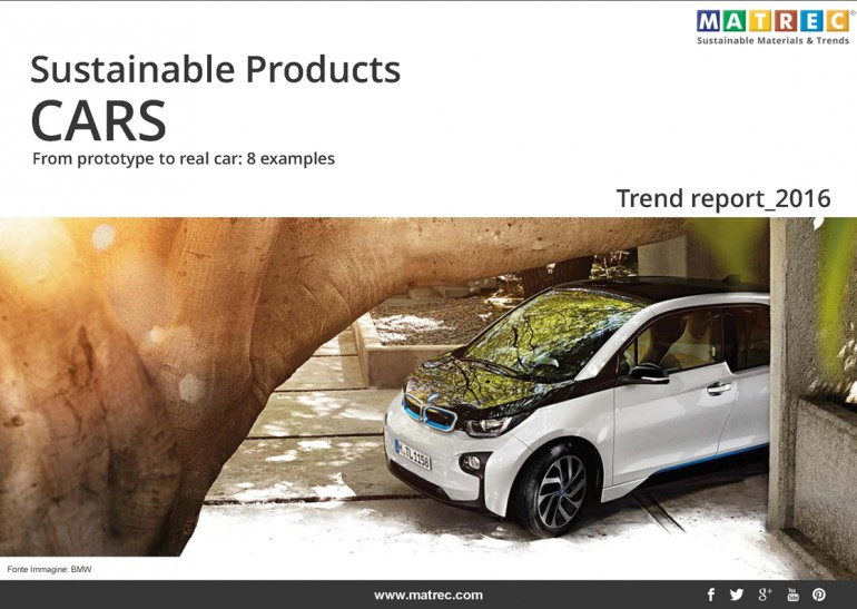 Pubblicazione – SUSTAINABLE PRODUCTS: CARS 2016 from prototype to real car: 8 examples
