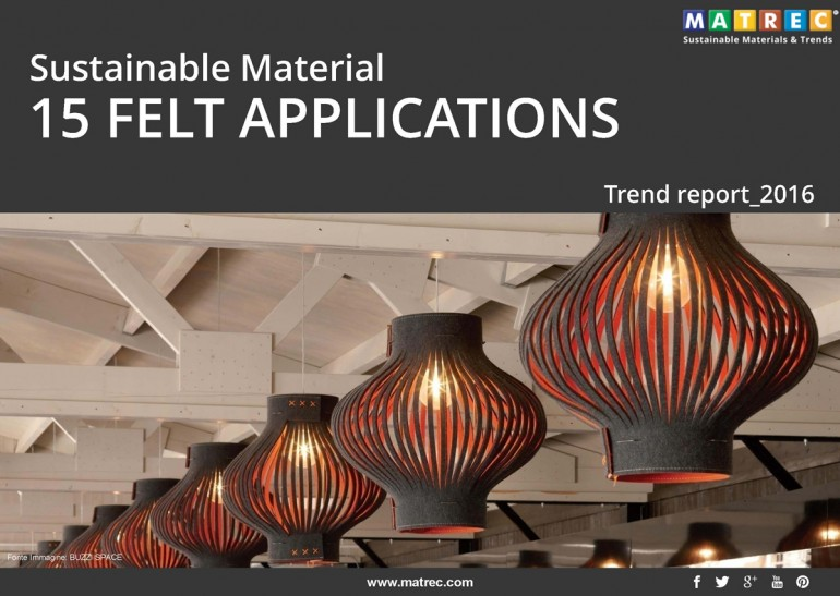 Pubblicazione – SUSTAINABLE MATERIAL: 15 FELT APPLICATIONS