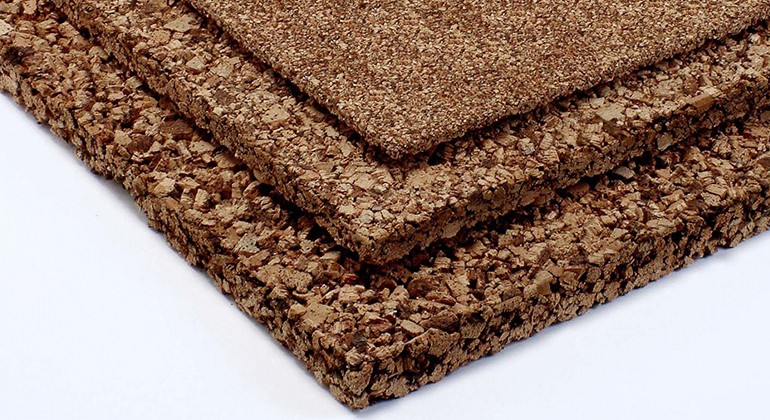 Recycled cork material