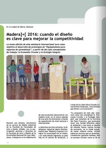 Madera]+[2016 : cuando el diseño es clave para majorar la competitividad