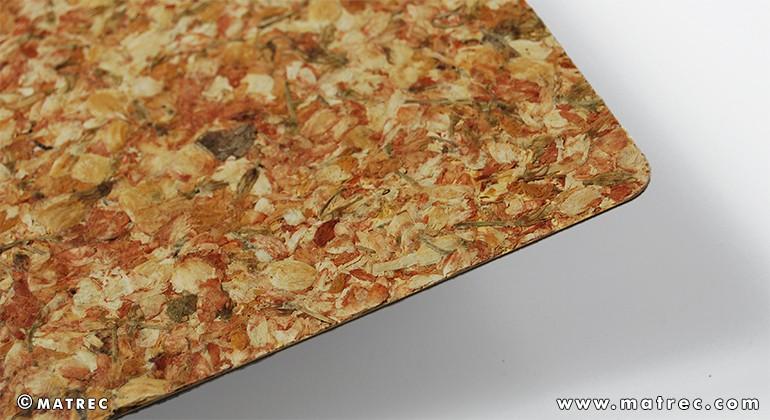 Material made of jasmine blossoms