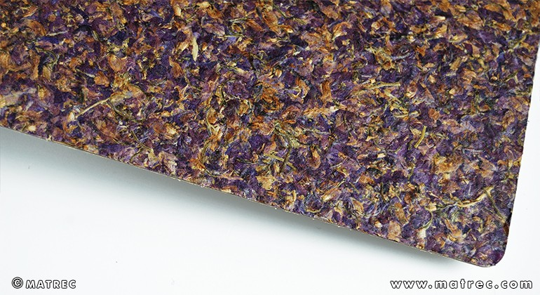 Material made of larkspur blossoms