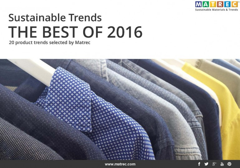 Pubblicazione – SUSTAINABLE TRENDS: THE BEST OF 2016