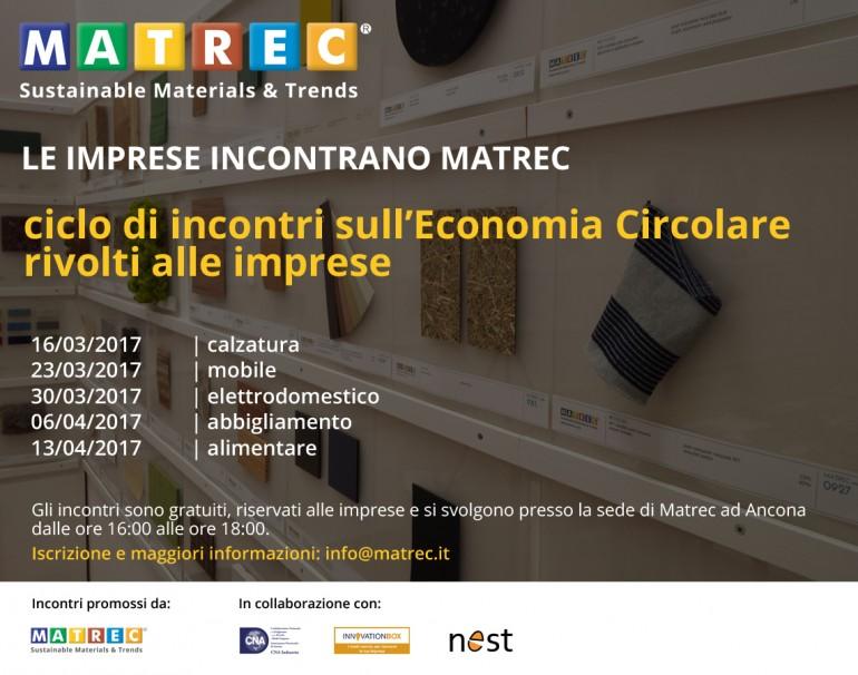 (Italiano) Le aziende incontrano Matrec: ciclo di incontri sull'economia circolare