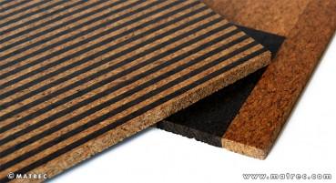 Materiale in granuli di sughero agglomerati