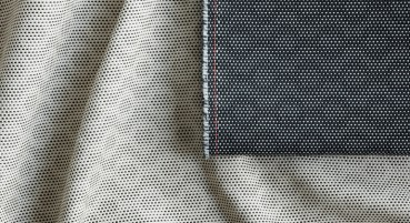 Material made of 63% recycled polymer fibre