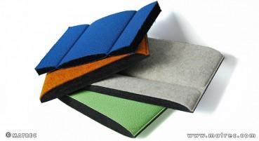 Materiale in fibre in poliestere riciclato