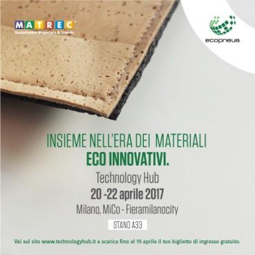 Matrec + Ecopneus: insieme nell'era dei materiali eco innovativi. Milano 20-22 aprile