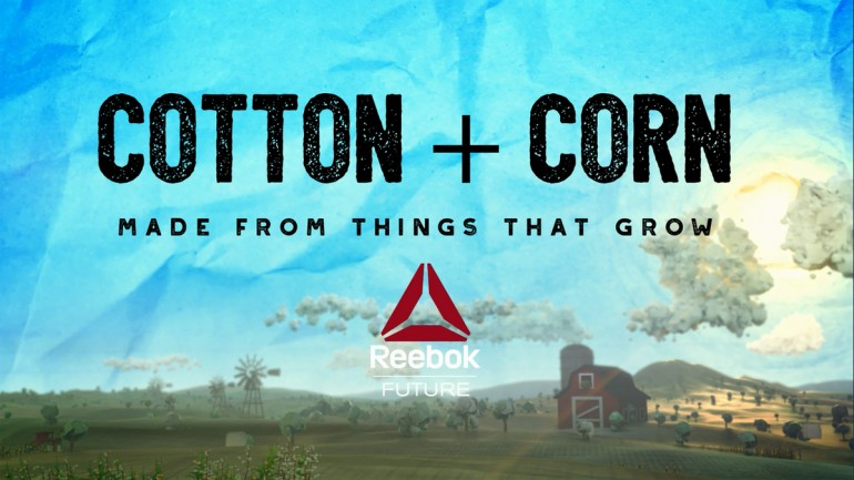 Reebok: cotton and corn in the shoes