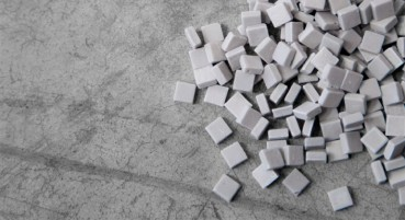 Materiale in polvere di vetro riciclato