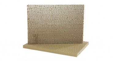 Panel made of 100% recycled paper