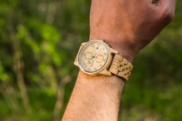 Wooden chronograph
