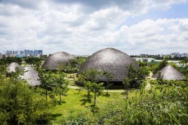 Cupole in bambù come luoghi di aggregazione