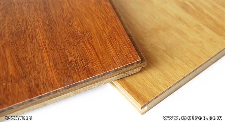 Three solid bamboo layers material
