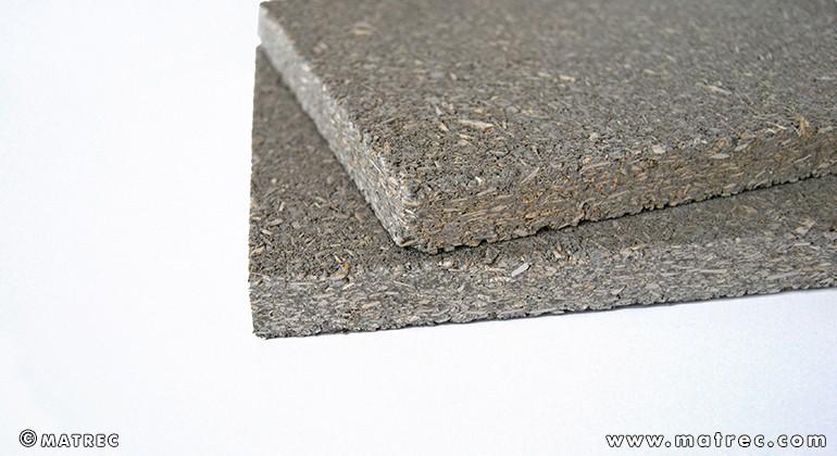 Hemp biomass and clay panel