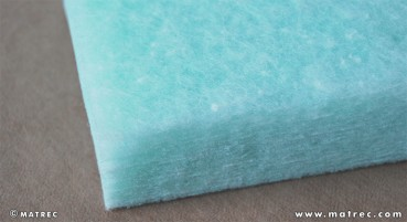 Recycled polyester fibres material
