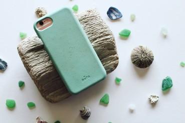 Cover per smartphone in lino e paglia