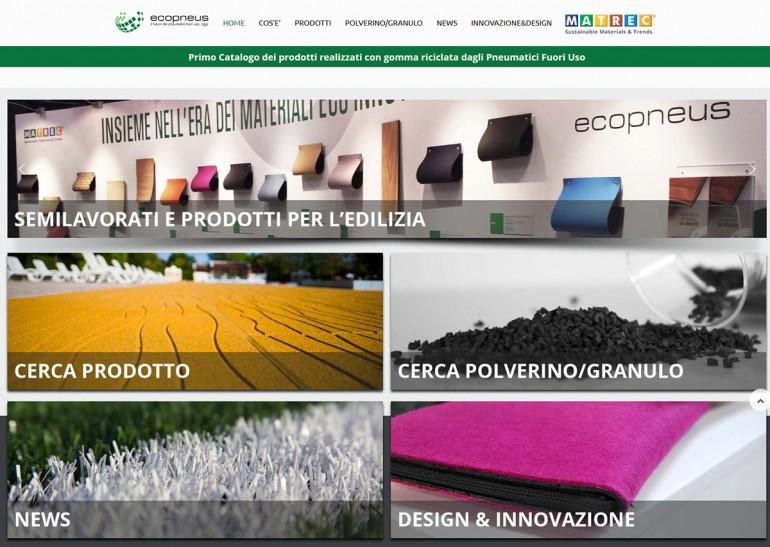 (Italiano) Online il nuovo catalogo dei prodotti in gomma riciclata da PFU firmato da MATREC per Ecopneus