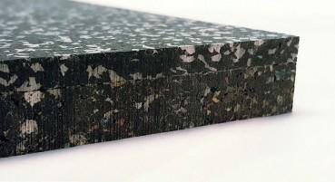 Materiale in gomma riciclata da PFU