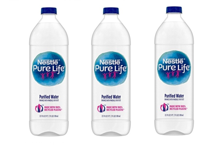 Nestlé, bottle made from 100% recycled plastic