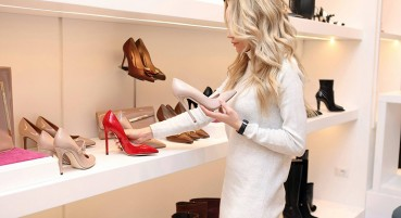 Recycled coverings and floorings for shoes store