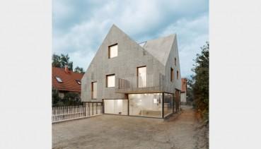 Cork Facade for a new house in Berlin